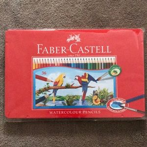 Brand NEW Farber-Castell 36 Watercolor pencils